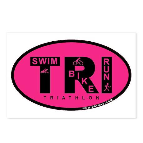 Thiathlon Swim Bike Run Postcards (Package of 8)