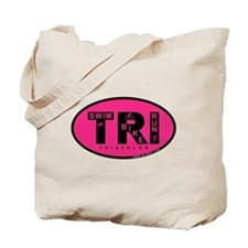 Thiathlon Swim Bike Run Tote Bag