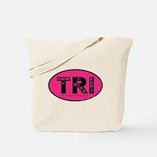 Thiathlon Swim Bike Run Tote Bag