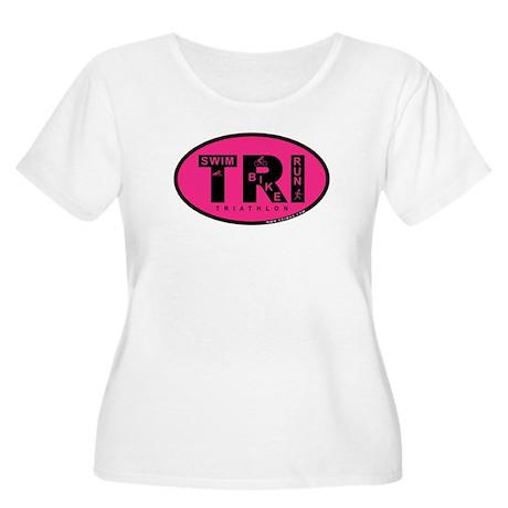 Thiathlon Swim Bike Run Women's Plus Size Scoop Ne