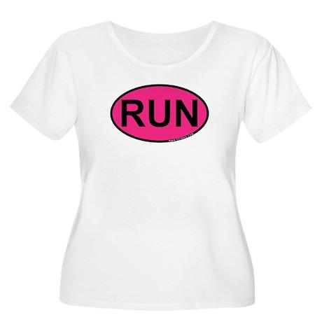 Run Women's Plus Size Scoop Neck T-Shirt