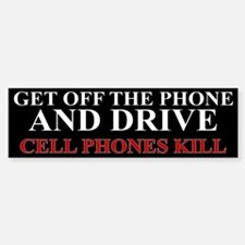 Cell Phones Kill Bumper Bumper Sticker