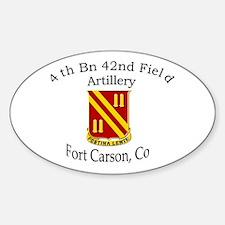 4th Bn 42nd FA Sticker (Oval)