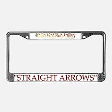 4th Bn 42nd FA License Plate Frame