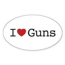 I love guns - Decal