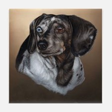 Dapple Dachshund Tile Coaster