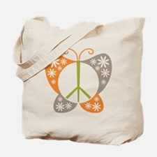 Peace Sign Butterfly Tote Bag