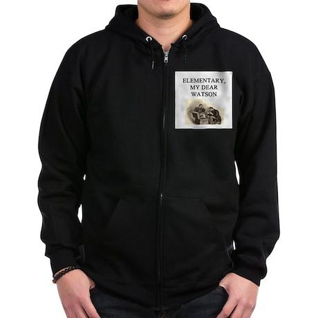 sherlok holmes gifts t-shirts Zip Hoodie (dark)