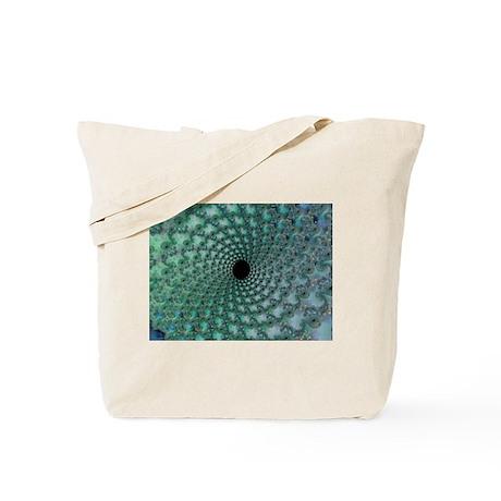 Sea Vortex Fractal Tote Bag