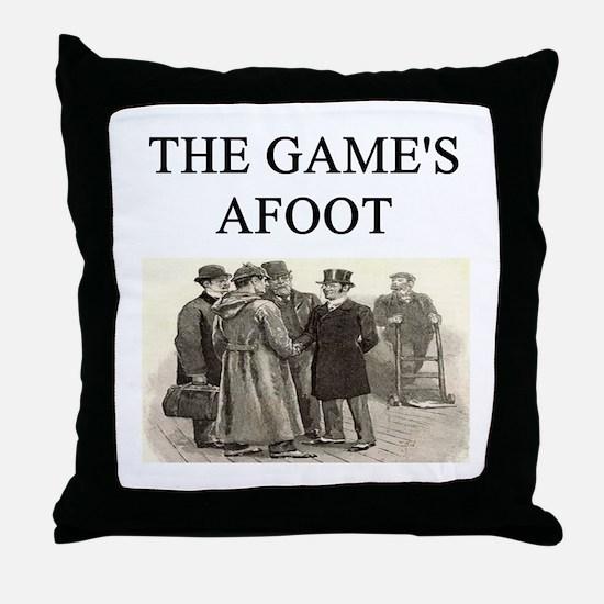 sherlok holmes gifts t-shirts Throw Pillow