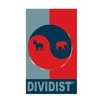 Divided Government Sticker (Rectangle 50 pk)