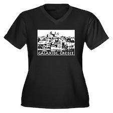 Galaxidi, Greece - illustrati Women's Plus Size V-