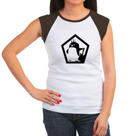 Rebel Penguin (women cap sleeve)