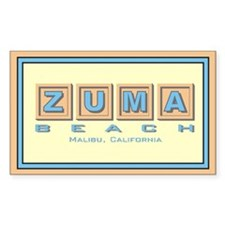 Zuma Beach Ca Rectangle Decal