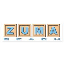 Zuma Beach Ca Bumper Bumper Sticker