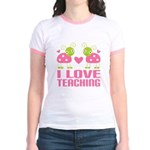Ladybug I Love Teaching Jr. Ringer T-Shirt
