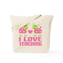 Ladybug I Love Teaching Tote Bag