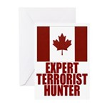CANADA-EXPERT TERRORIST HUNTER Greeting Cards (Pac