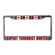 CANADA-EXPERT TERRORIST HUNTER License Plate Frame