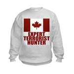 CANADA-EXPERT TERRORIST HUNTER Kids Sweatshirt