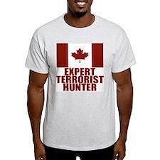 CANADA-EXPERT TERRORIST HUNTER Ash Grey T-Shirt