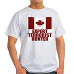 CANADA-EXPERT TERRORIST HUNTER Ash Grey T-Shirt