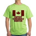 CANADA-EXPERT TERRORIST HUNTER Green T-Shirt