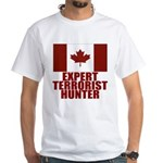 CANADA-EXPERT TERRORIST HUNTER White T-Shirt