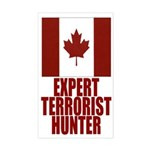 CANADA-EXPERT TERRORIST HUNTER Sticker (Rectangula