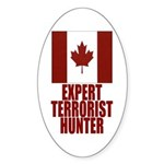 CANADA-EXPERT TERRORIST HUNTER Oval Sticker