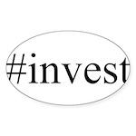 #invest Sticker (Oval 10 pk)