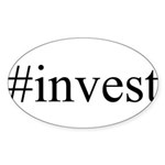 #invest Sticker (Oval 50 pk)