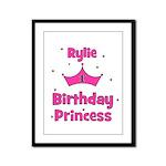 1st Birthday Princess Rylie! Framed Panel Print