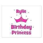 1st Birthday Princess Rylie! Small Poster
