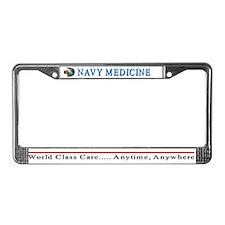 Navy Medicine License Plate Frame