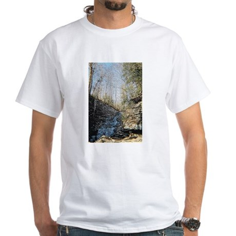 Icy Waterfall White T-Shirt