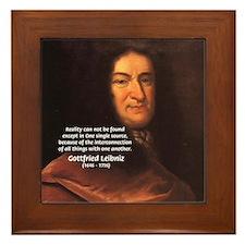 Gottfried Leibniz Metaphysics Framed Tile