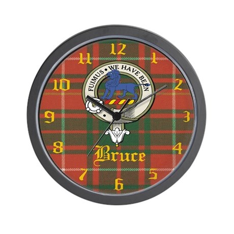 Bruce Clan Crest Wall Clock