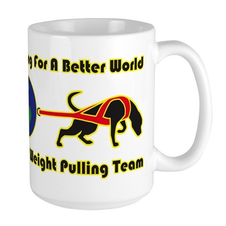 Dog Weight Pulling Large Mug