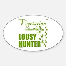 LOUSY/BAD HUNTER Sticker (Oval)