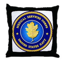 Navy Dental Corps Throw Pillow