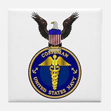 Navy Corpsman Tile Coaster