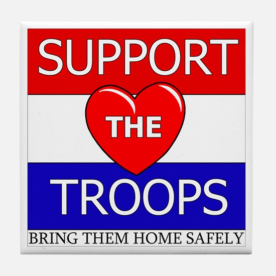 Support the Troops Tile Coaster