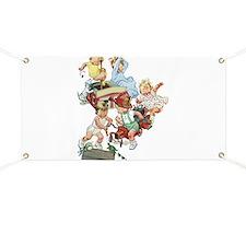 Vintage Children Playing Fireman Banner