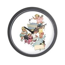 Vintage Children Playng Wall Clock