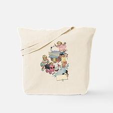 Vintage Children Playng Tote Bag