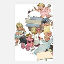 Vintage Children Playng Postcards (Package of 8)