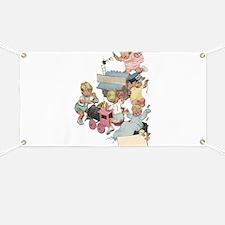 Vintage Children Playng Banner