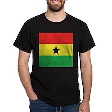 Ghana Flag Black T-Shirt