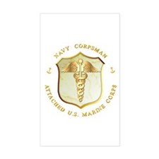 Navy Corpsman USMC Rectangle Decal